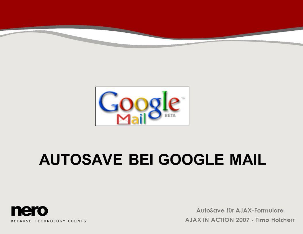 Autosave bei Google Mail