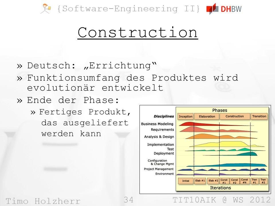 """Construction Deutsch: """"Errichtung"""