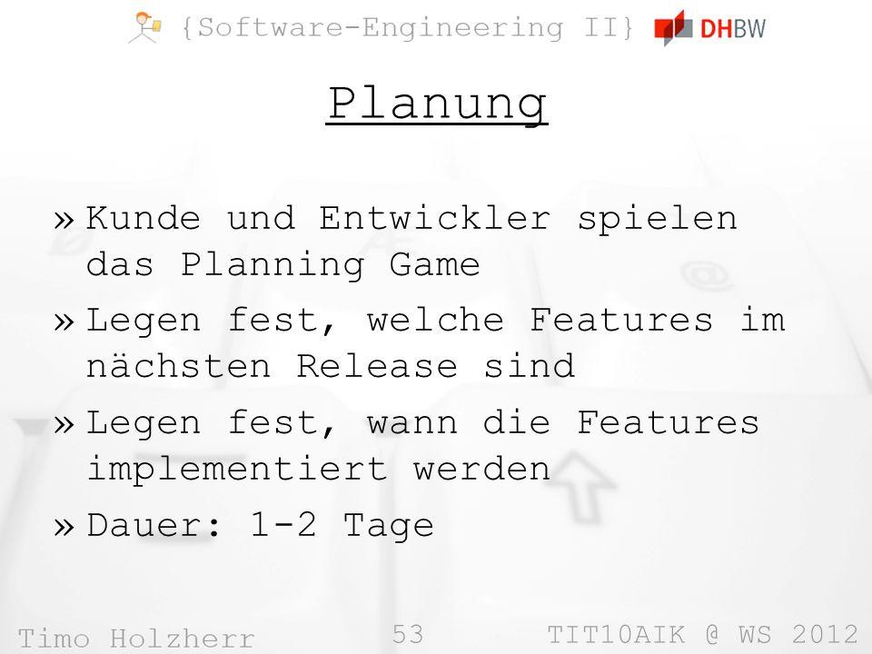 Planung Kunde und Entwickler spielen das Planning Game