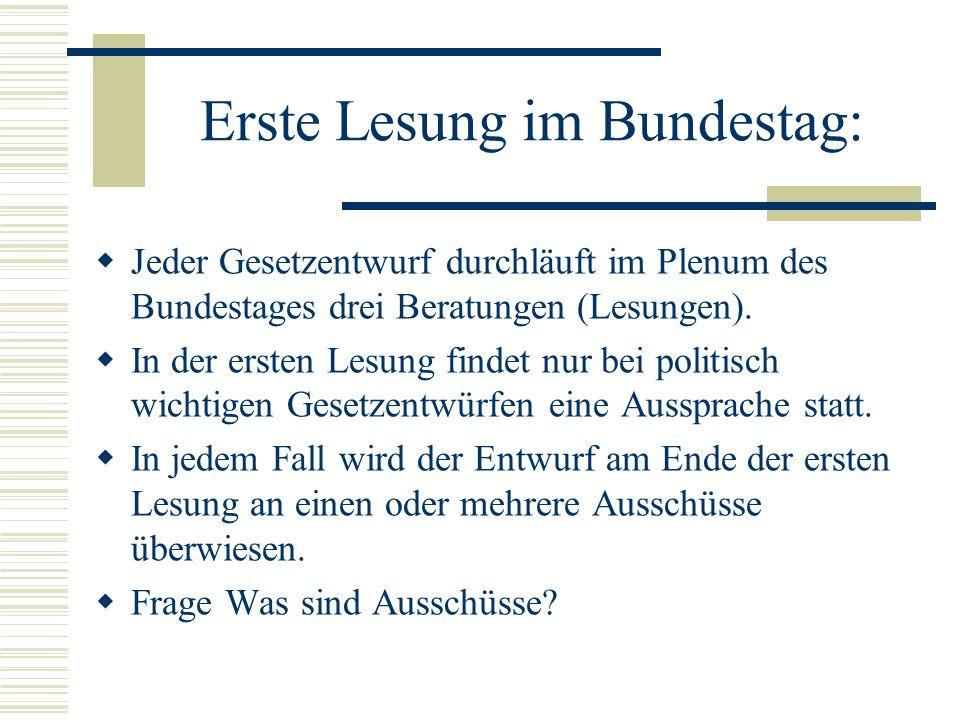 Erste Lesung im Bundestag: