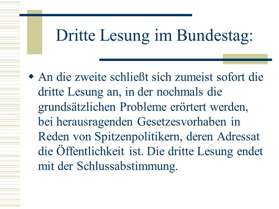 Dritte Lesung im Bundestag: