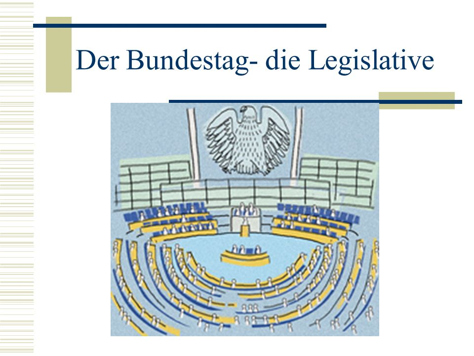 Der Bundestag- die Legislative
