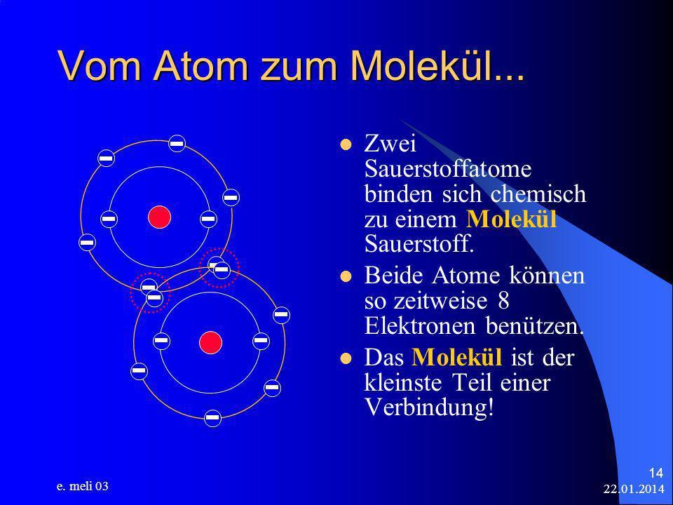 Vom Atom zum Molekül... Zwei Sauerstoffatome binden sich chemisch zu einem Molekül Sauerstoff.