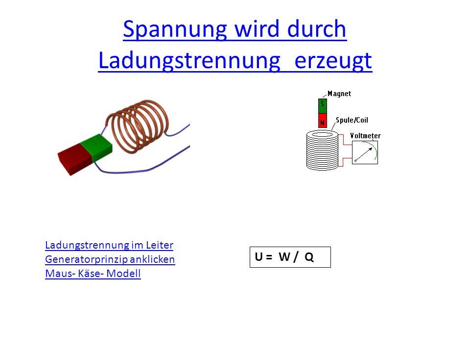 Spannung wird durch Ladungstrennung erzeugt