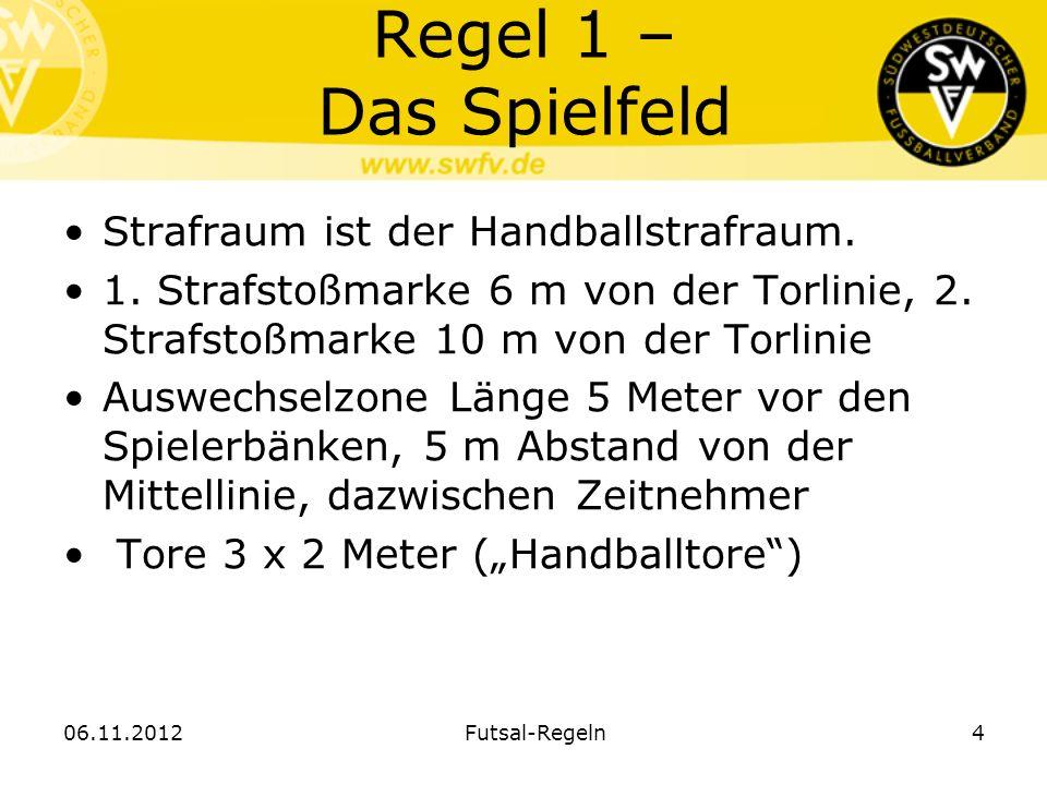 Regel 1 – Das Spielfeld Strafraum ist der Handballstrafraum.