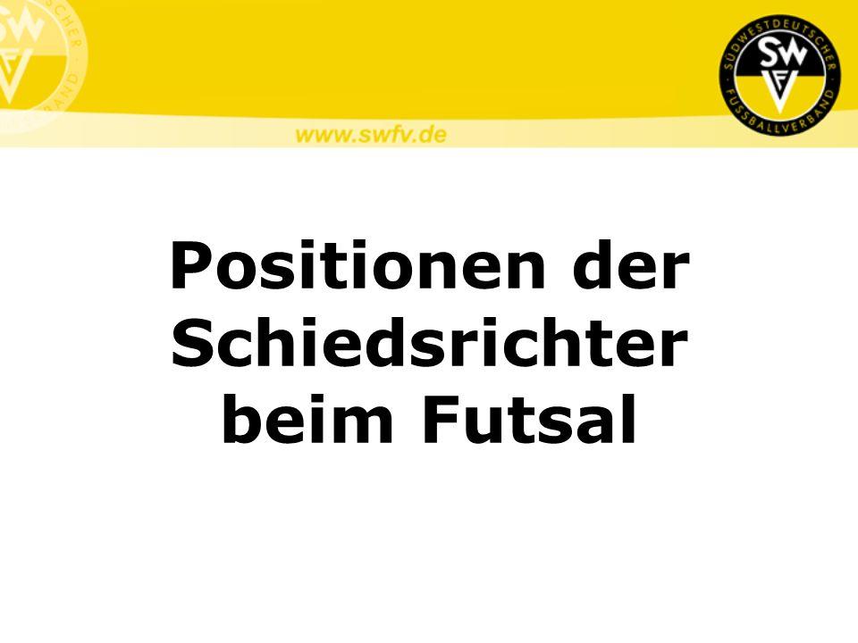 Positionen der Schiedsrichter beim Futsal
