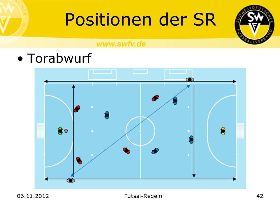 Positionen der SR Torabwurf 06.11.2012 Futsal-Regeln