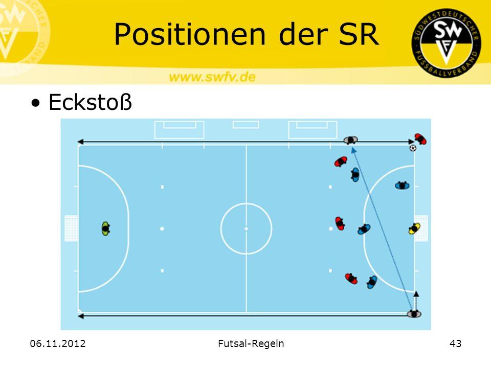 Positionen der SR Eckstoß 06.11.2012 Futsal-Regeln