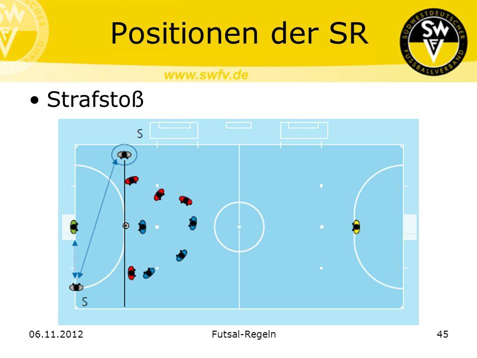Positionen der SR Strafstoß 06.11.2012 Futsal-Regeln