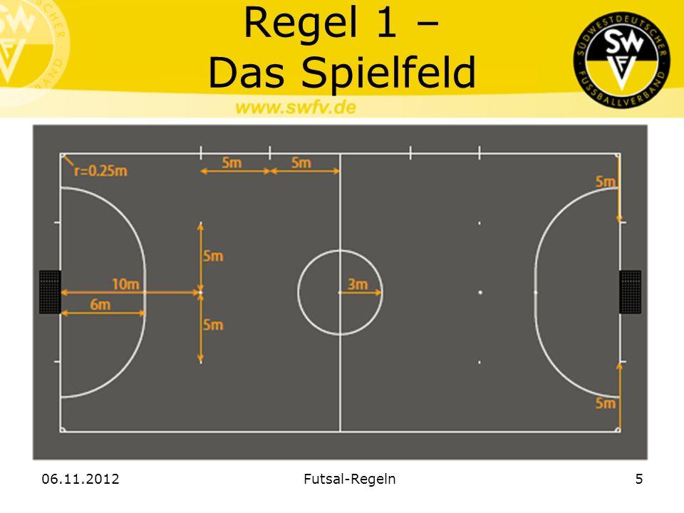Regel 1 – Das Spielfeld 06.11.2012 Futsal-Regeln