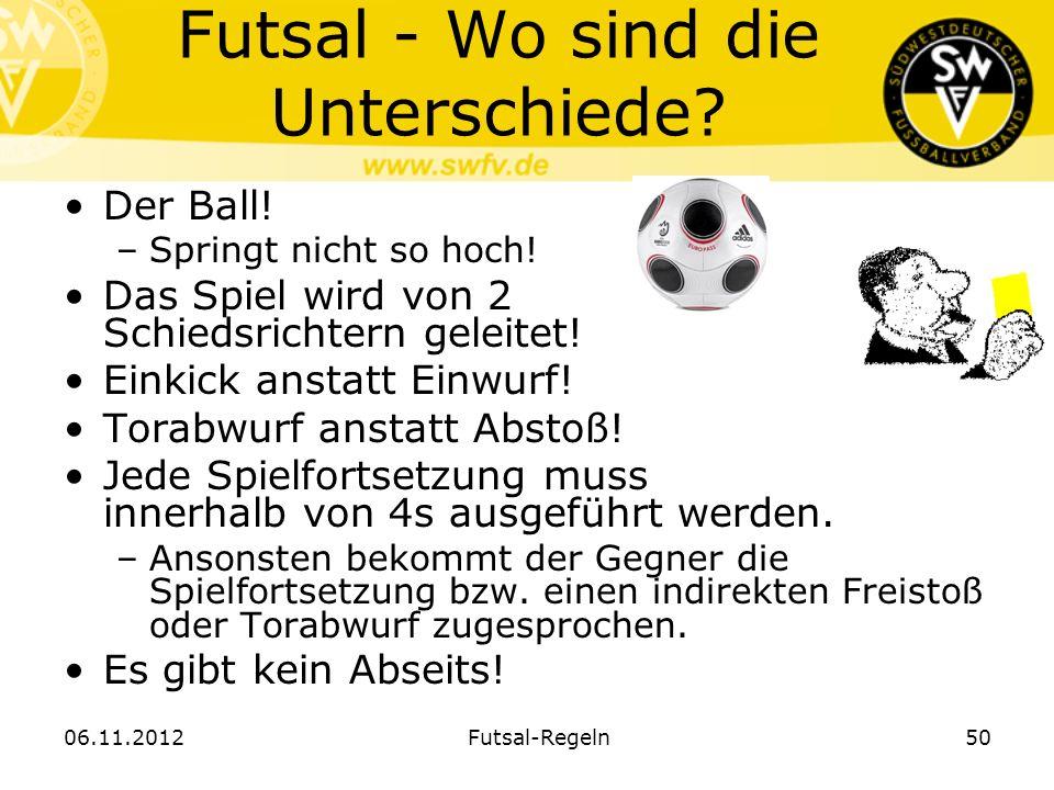 Futsal - Wo sind die Unterschiede