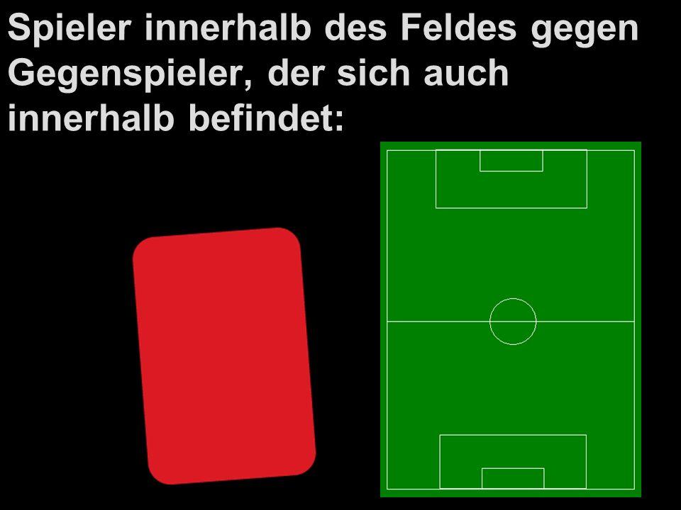 Spieler innerhalb des Feldes gegen Gegenspieler, der sich auch innerhalb befindet: