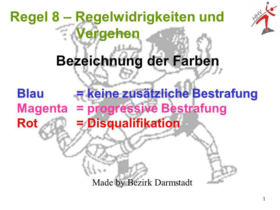 Regel 8 – Regelwidrigkeiten und Vergehen