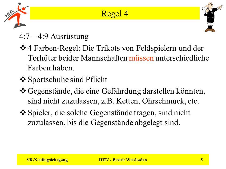 Regel 4 4:7 – 4:9 Ausrüstung.