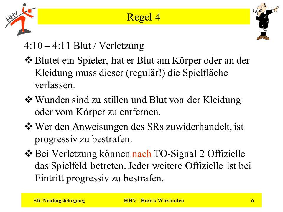 Regel 4 4:10 – 4:11 Blut / Verletzung