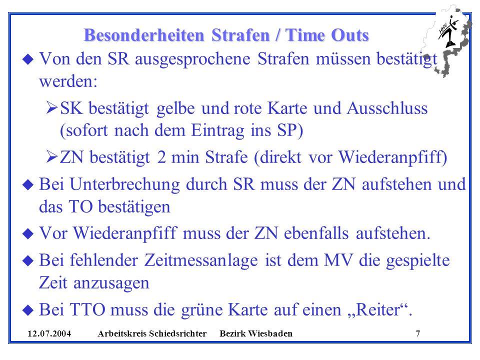 Besonderheiten Strafen / Time Outs
