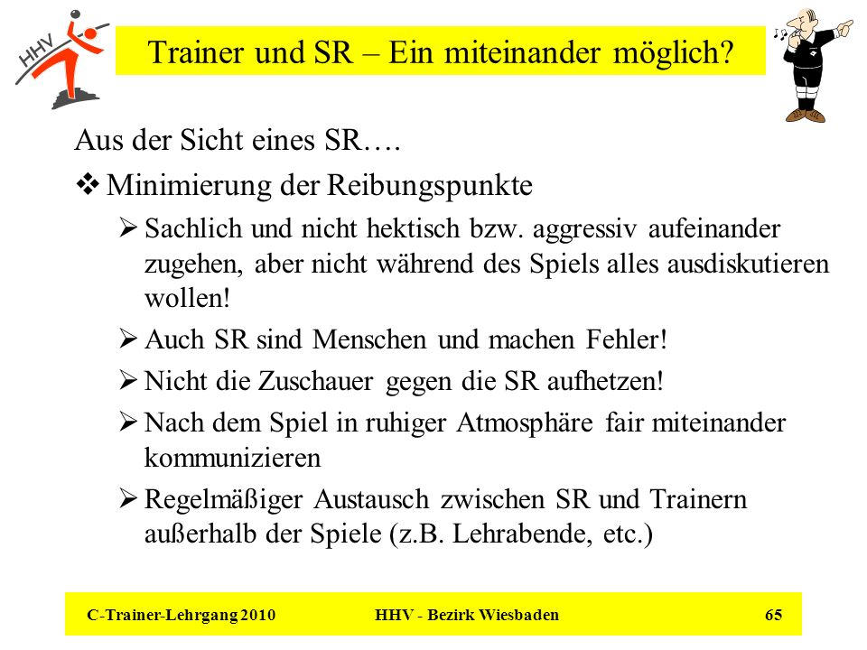 Trainer und SR – Ein miteinander möglich