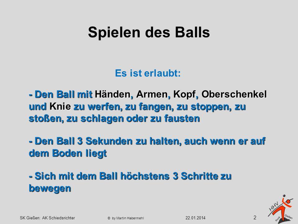 - Den Ball 3 Sekunden zu halten, auch wenn er auf dem Boden liegt