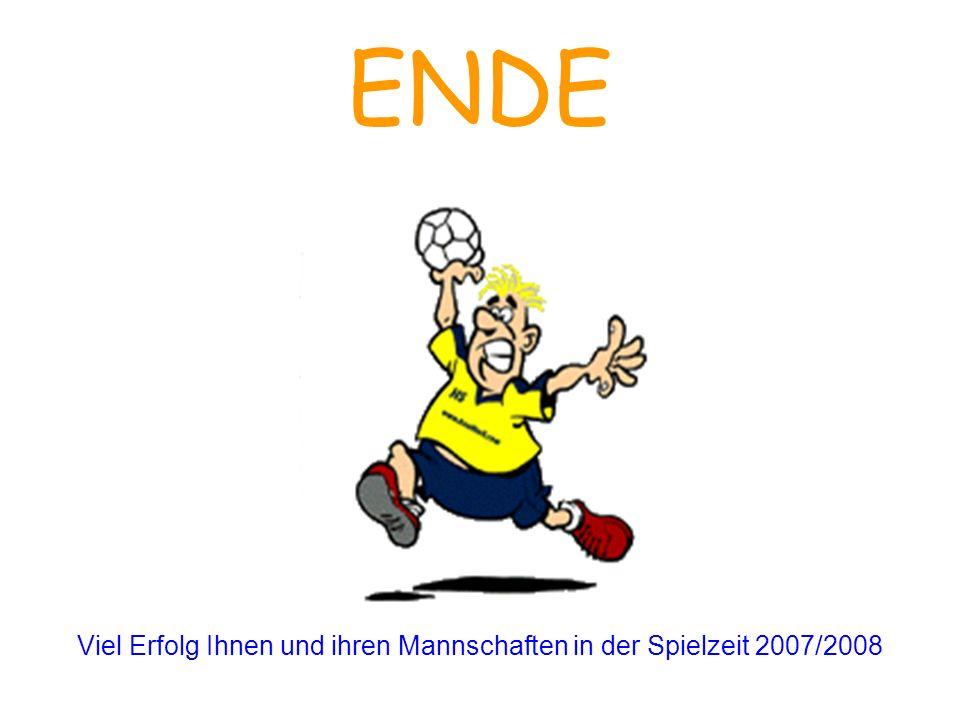 Viel Erfolg Ihnen und ihren Mannschaften in der Spielzeit 2007/2008