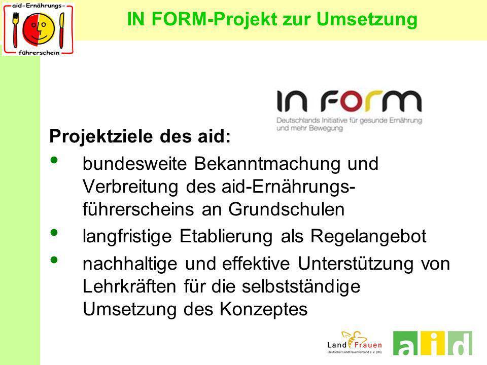 IN FORM-Projekt zur Umsetzung