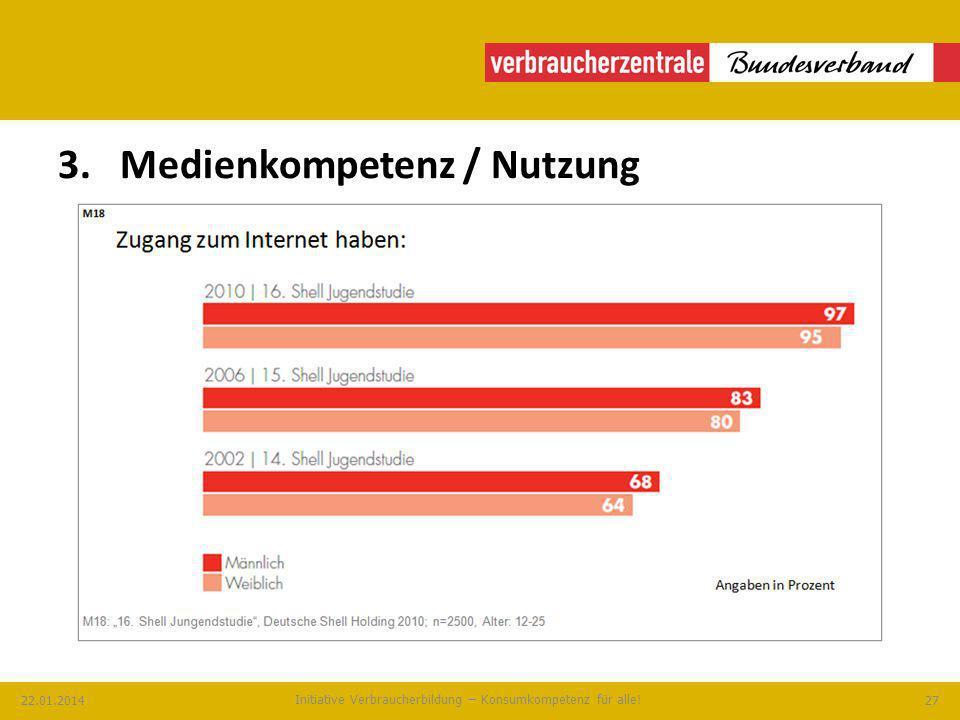 3. Medienkompetenz / Nutzung