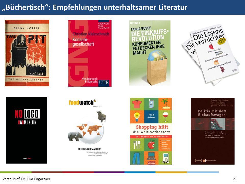 """""""Büchertisch : Empfehlungen unterhaltsamer Literatur"""