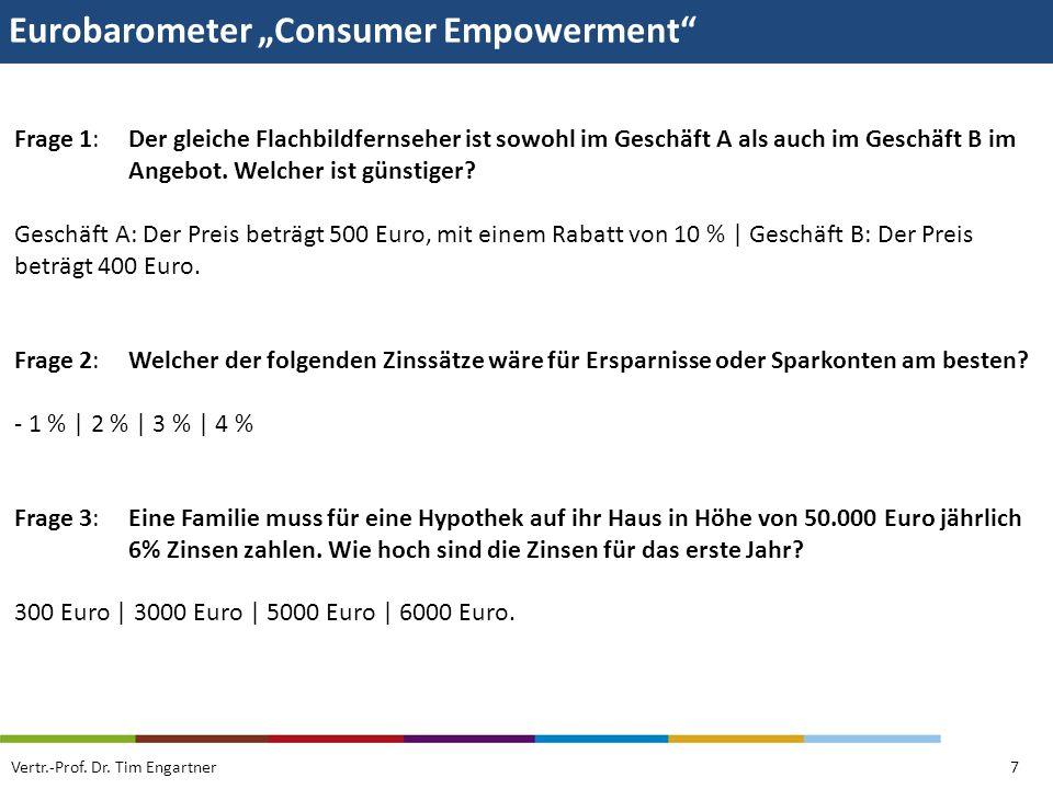 """Eurobarometer """"Consumer Empowerment"""