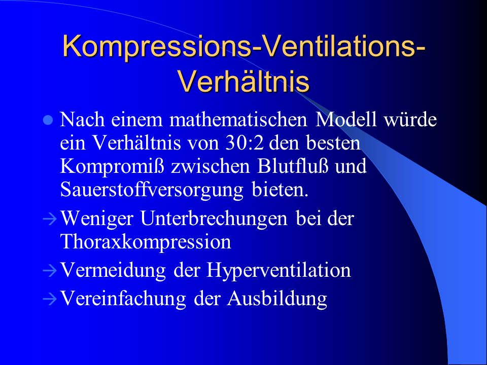 Kompressions-Ventilations-Verhältnis