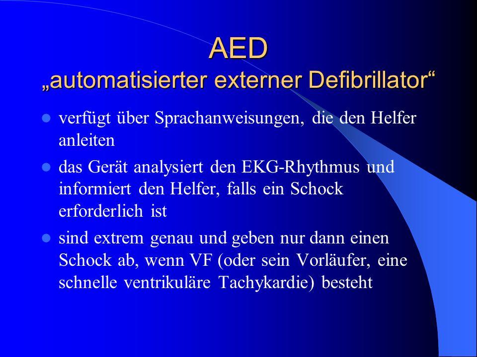 """AED """"automatisierter externer Defibrillator"""