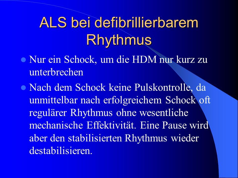 ALS bei defibrillierbarem Rhythmus
