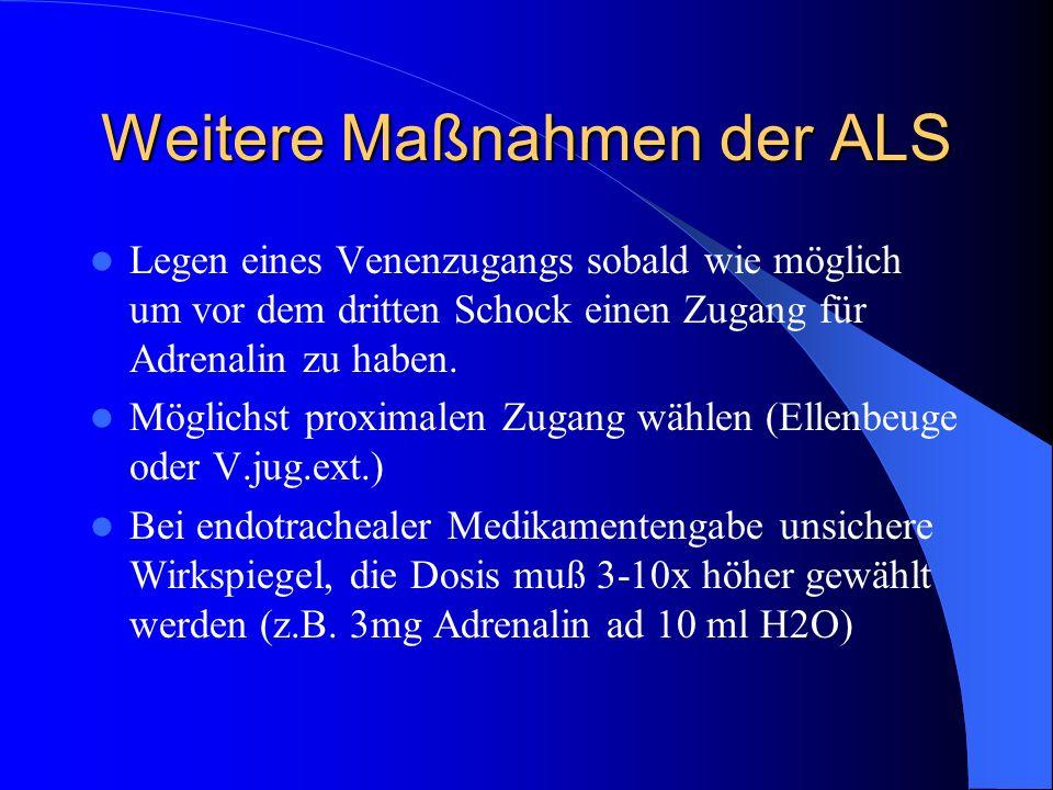 Weitere Maßnahmen der ALS