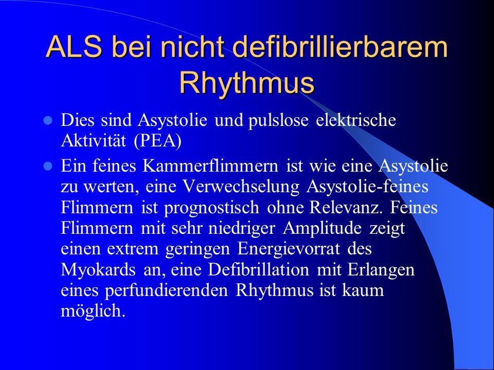 ALS bei nicht defibrillierbarem Rhythmus
