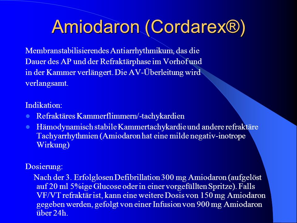Amiodaron (Cordarex®)