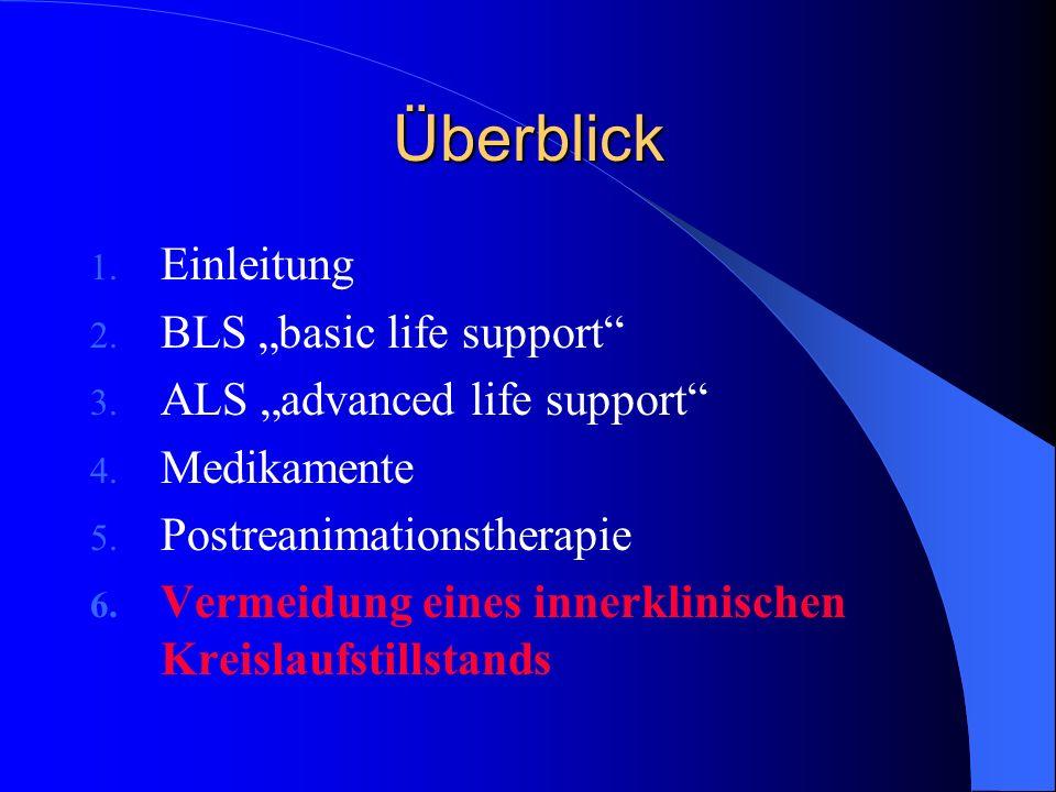 """Überblick Einleitung BLS """"basic life support"""