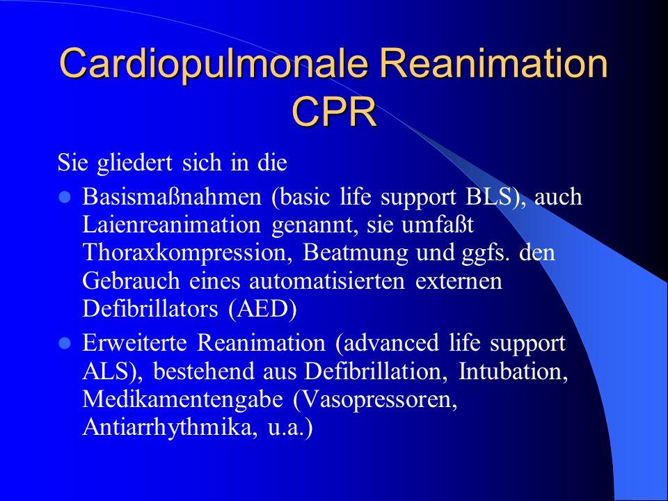 Cardiopulmonale Reanimation CPR