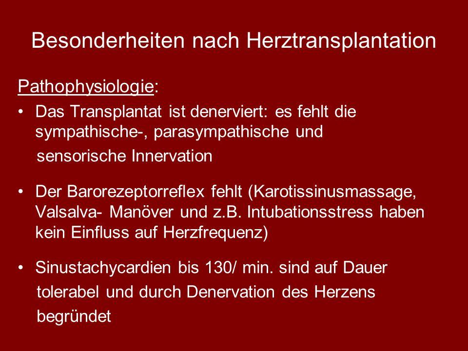 Besonderheiten nach Herztransplantation