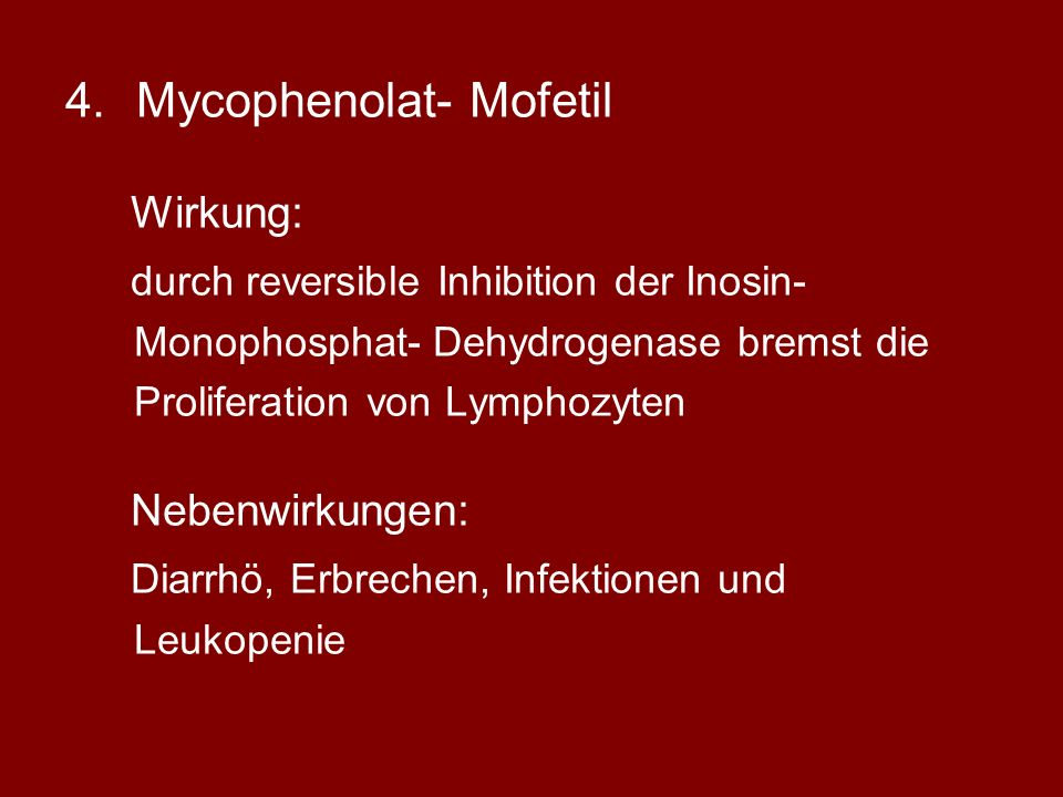Mycophenolat- Mofetil