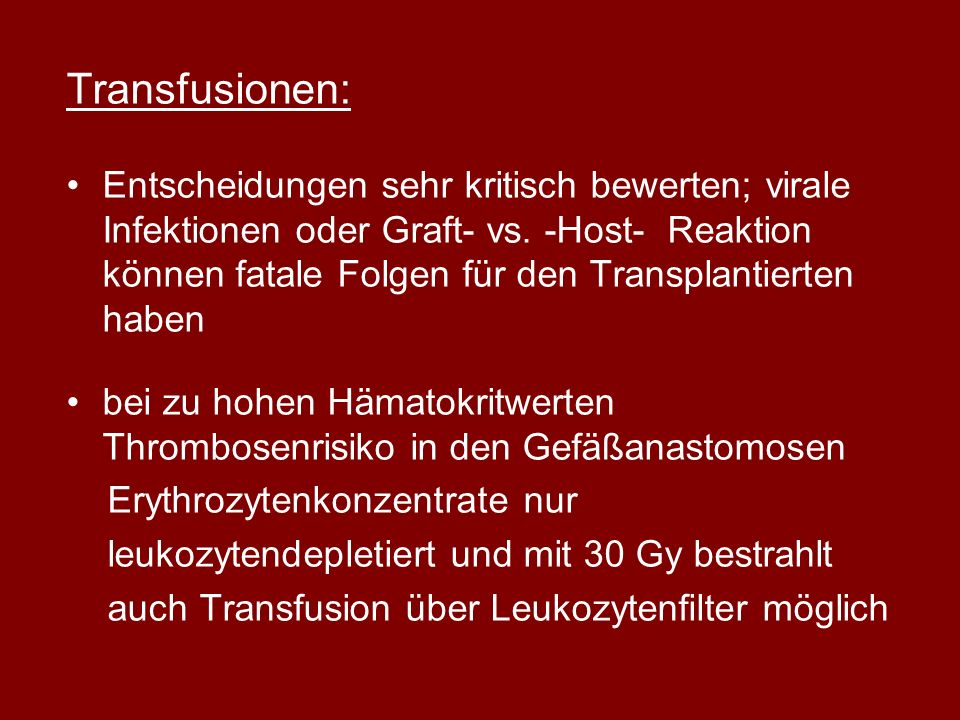 Transfusionen: