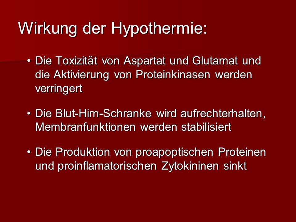 Wirkung der Hypothermie: