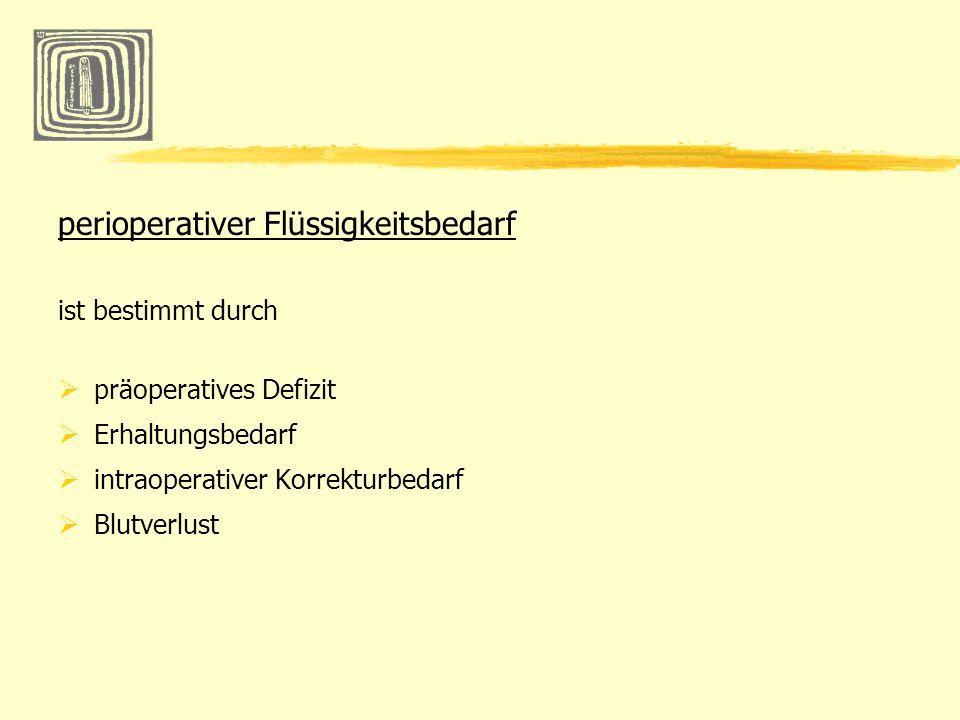 perioperativer Flüssigkeitsbedarf