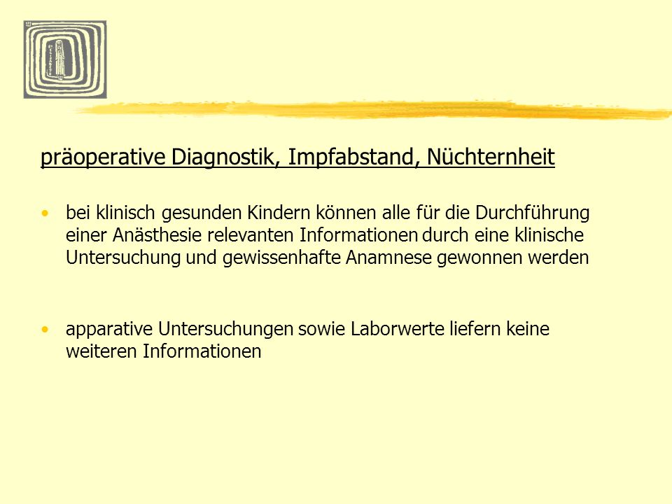 präoperative Diagnostik, Impfabstand, Nüchternheit