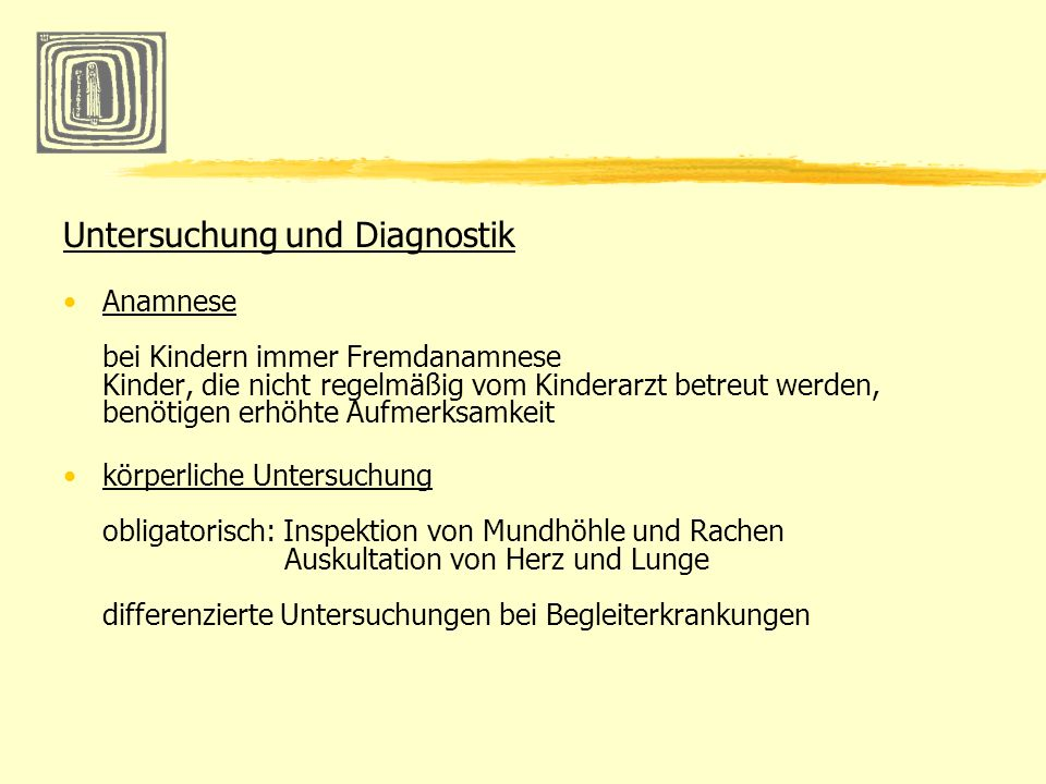 Untersuchung und Diagnostik