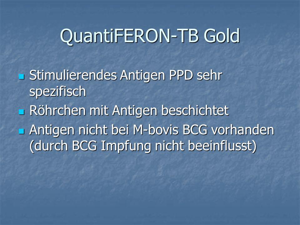QuantiFERON-TB Gold Stimulierendes Antigen PPD sehr spezifisch