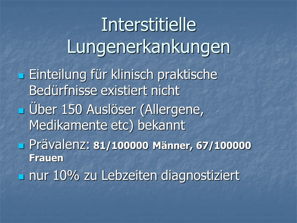 Interstitielle Lungenerkankungen