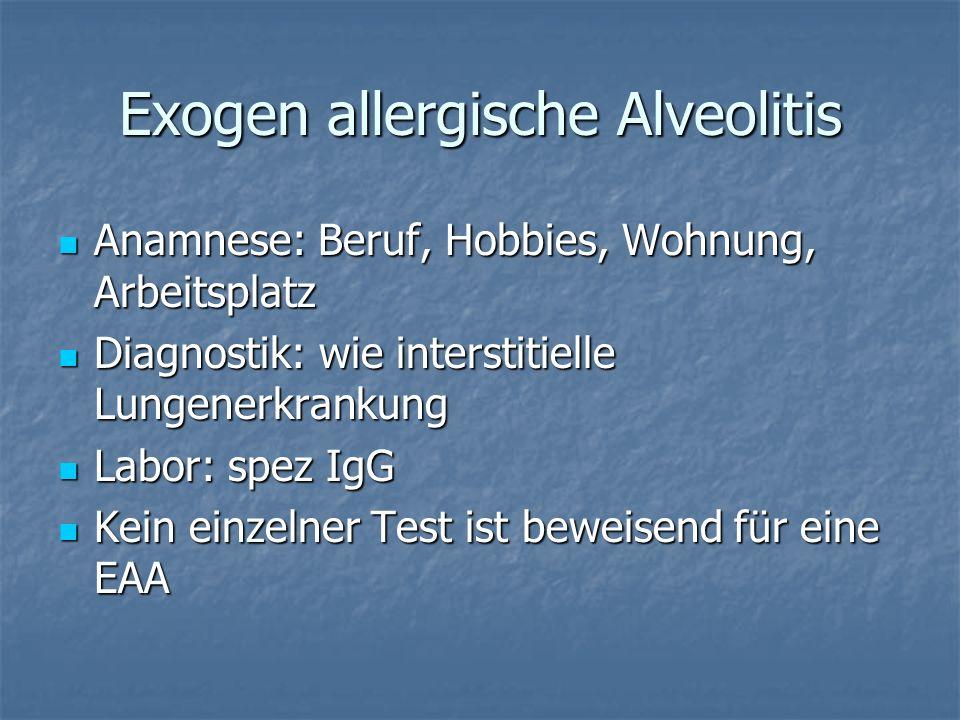 Exogen allergische Alveolitis