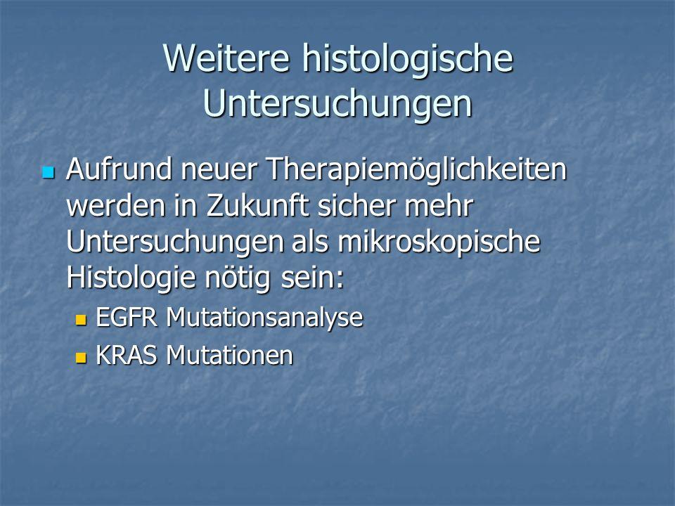 Weitere histologische Untersuchungen