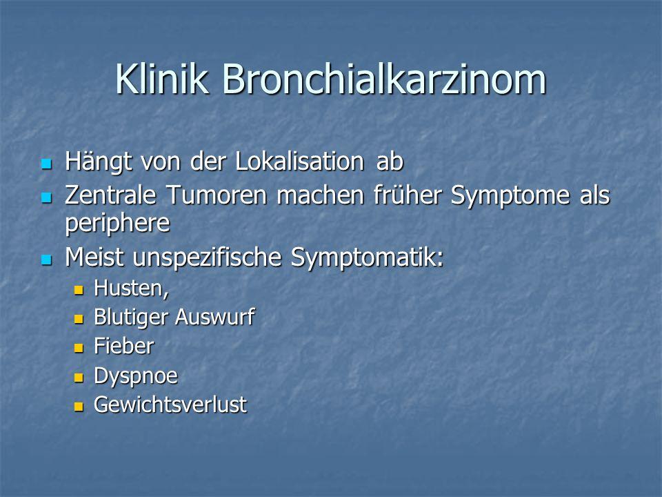 Klinik Bronchialkarzinom