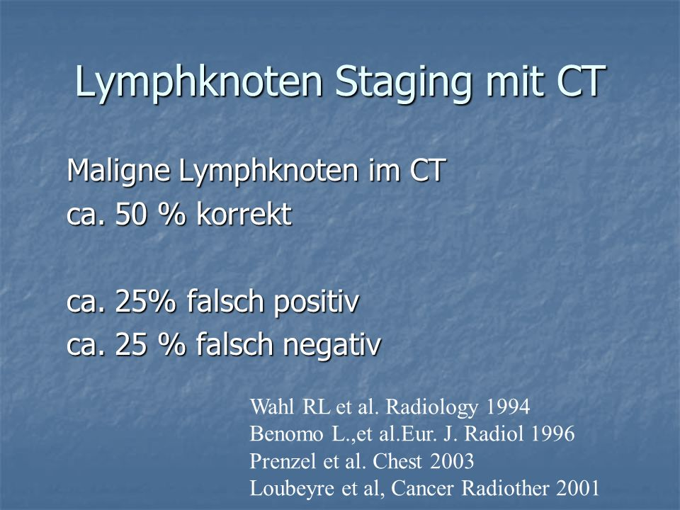 Lymphknoten Staging mit CT