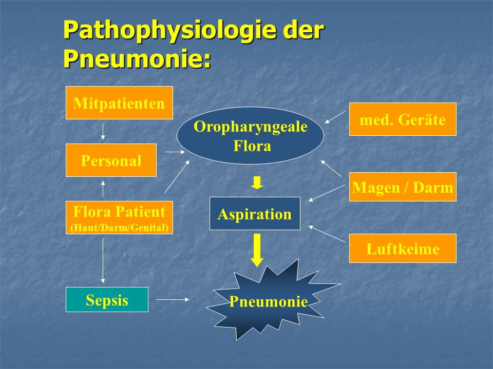 Pathophysiologie der Pneumonie: