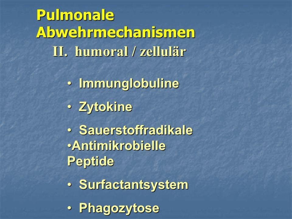 Pulmonale Abwehrmechanismen